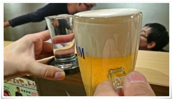 生ビールで乾杯@すし吉三平