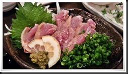 地鶏のタタキ@とり八 八幡駅前本店