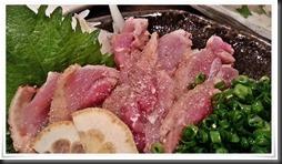 地鶏のタタキアップ@とり八 八幡駅前本店