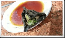 黒ギョーザアップ@中華料理 龍成火鍋