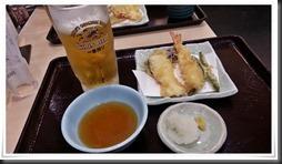 生ビールセット現物@天丼てんや