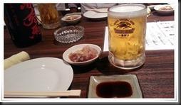 生ビール&突き出し@喰い鍋や