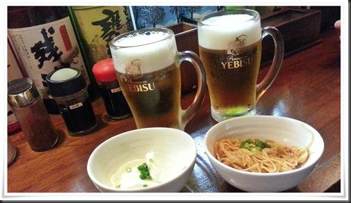 ビール&小鉢@食べ飲み処 てんやわん屋