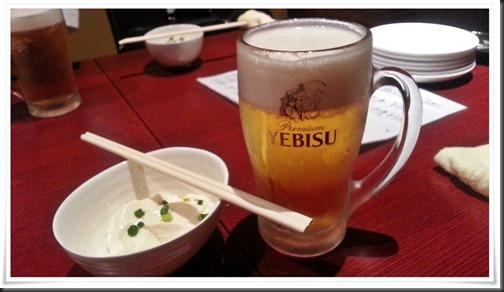 晩酌セット生ビール&小鉢@てんやわん屋