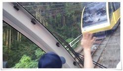 黄色の車体はるか号@皿倉山星空ビアガーデン