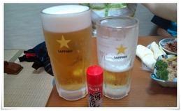 生ビール中との比較@ちんちくりん