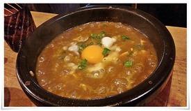 麻婆カレー餃子に米投入@居酒屋 仙