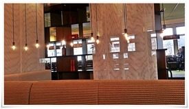 眺めのいいテーブル席@クラタ珈琲店 戸畑店