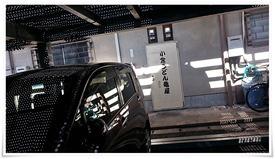 駐車場からも店舗に入れます@小倉うどん竜屋