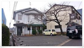 店舗前の駐車場@cafe 桜亭