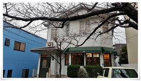 店舗前の桜の木@cafe 桜亭