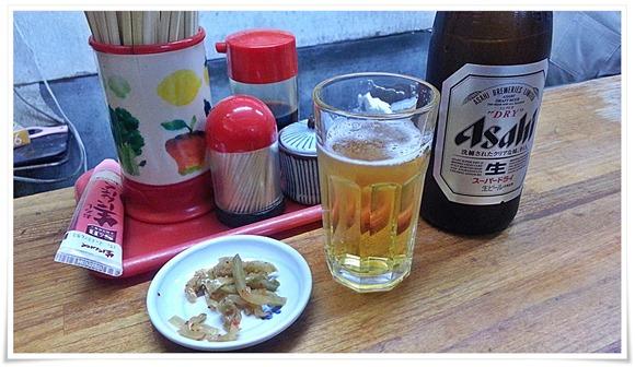 瓶ビールで乾杯@餃子兄弟