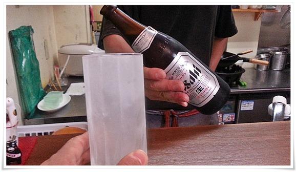 キンキンに冷えたグラス@ラーメン天晴(あっぱれ)