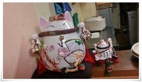 まねき猫@ラーメン天晴(あっぱれ)