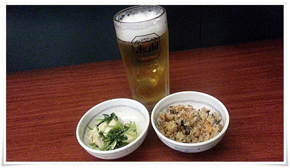 生ビール+小鉢2品@一銭洋食 TSUDA屋