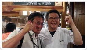大将と記念撮影@魚虎(うおとら)