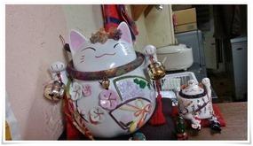 店内の招き猫@ラーメン天晴