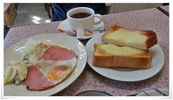 朝定食(洋)400円@まんなおし食堂
