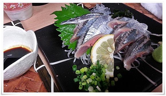 秋刀魚のお刺身@やきとり王将