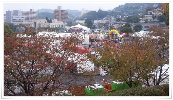食のゾーン全景@まつり起業祭八幡2014