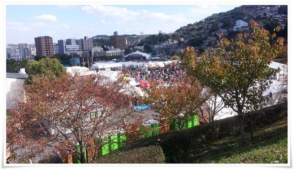天気抜群の最終日@まつり起業祭八幡2014