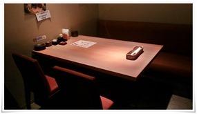4人掛けテーブル席@魚マルシェ2号店