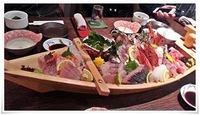 刺身の船盛り@魚マルシェ2号店