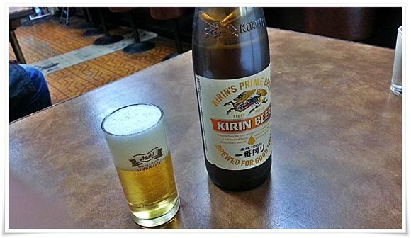 瓶ビールは大瓶@福の屋