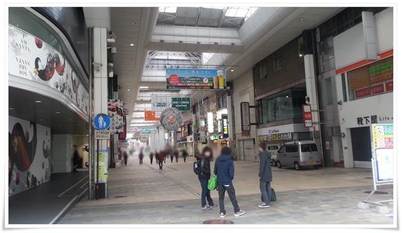 熊本下通りアーケード(通町筋方面から)