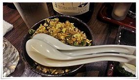 満腹セットの阿蘇高菜炒飯@居酒屋 感
