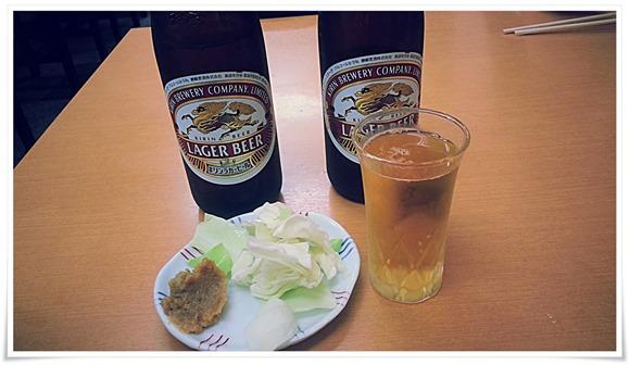 瓶ビールで乾杯!@焼麺屋 虎之介(とらのすけ)