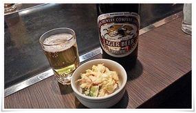 瓶ビールで乾杯@お好み焼・鉄板焼 五衛門