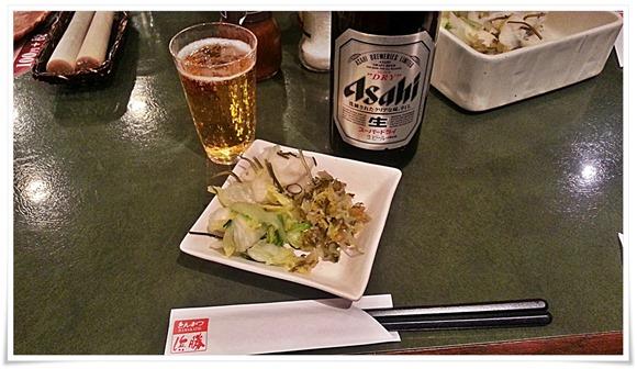 瓶ビールで乾杯@とんかつ浜勝 北九州陣山店