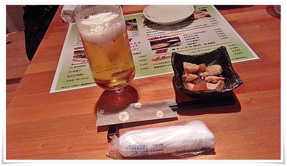 生ビールで乾杯@郷土旬彩 もも鐵 えん