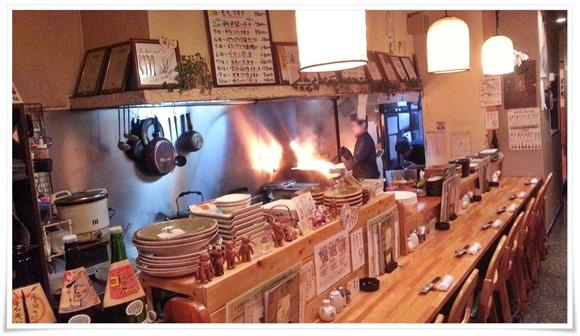 もも焼き調理中@郷土旬彩 もも鐵 えん
