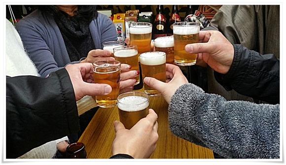 瓶ビールで乾杯@武藤酒店
