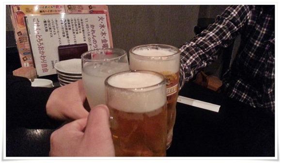 生ビールで乾杯@六味三徳かれん