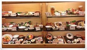 店頭のショーケース@博多三昧 まるとく食堂