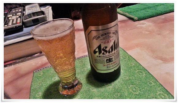 瓶ビールで乾杯@すなっく こうげん