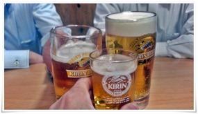 ビールで乾杯@黒崎食堂ねころく