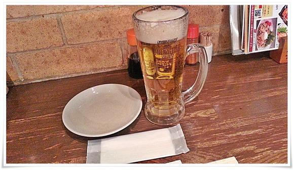 生ビールで乾杯@焼とり居酒屋 竹乃屋