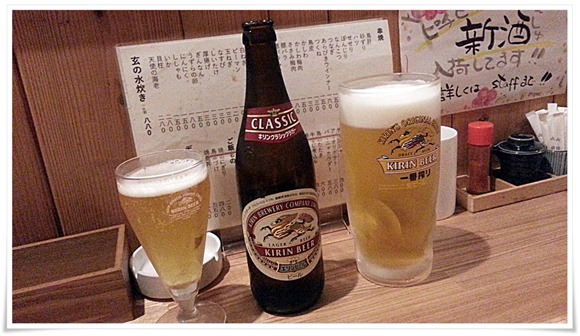 ビールで乾杯@炭火焼 玄(げん)
