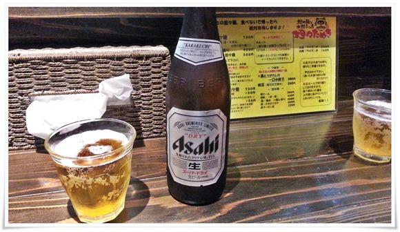 ビールで乾杯@担々たぬき らーめんKIWAMI