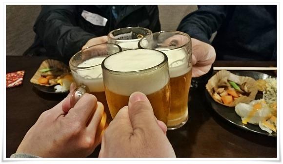 """生ビールで乾杯@家ごはんで晩酌 木春"""""""