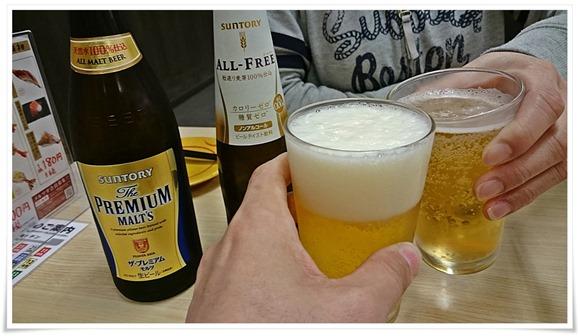 瓶ビールで乾杯@スシロー八幡東田店