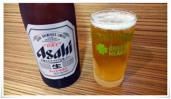 瓶ビールで乾杯@ラーメン天晴(あっぱれ)