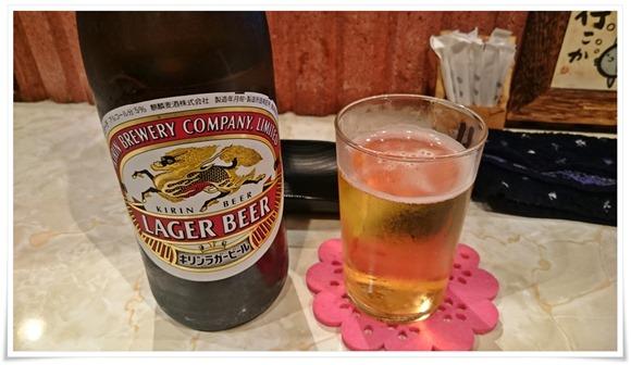 瓶ビールで乾杯@酒処 こふじ