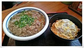 肉うどん&ミニカツ丼@うどん満月 陣原駅前店
