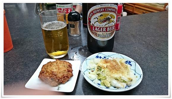 白菜漬とさつま揚げ@斉藤酒店(居酒屋さいとう)