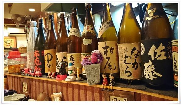 一升瓶の数々@酒処 こふじ